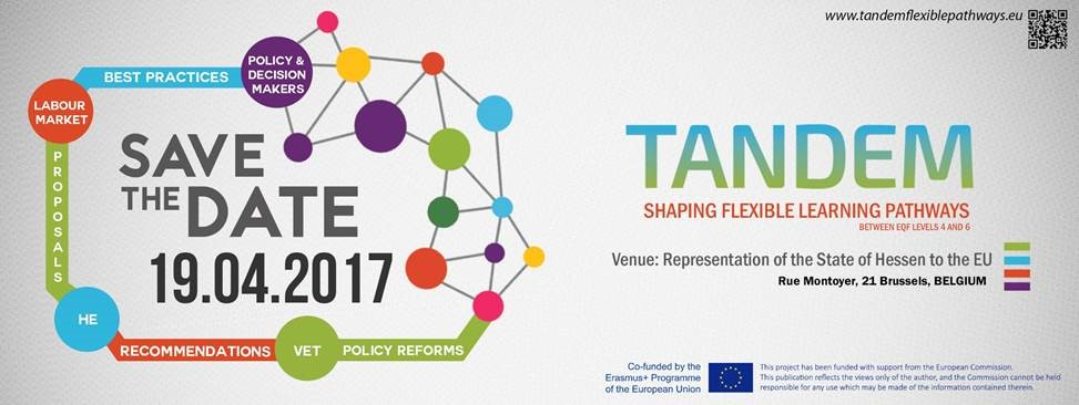 TANDEM – Dialogue session on good practices and recommendations for flexible learning pathways