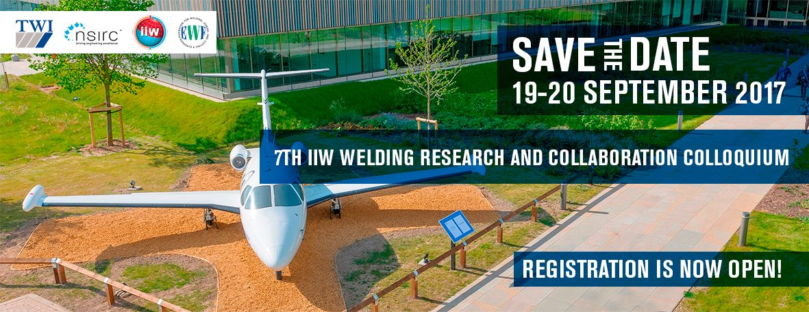 Book your place at the 7th IIW Welding Research & Collaboration Colloquium