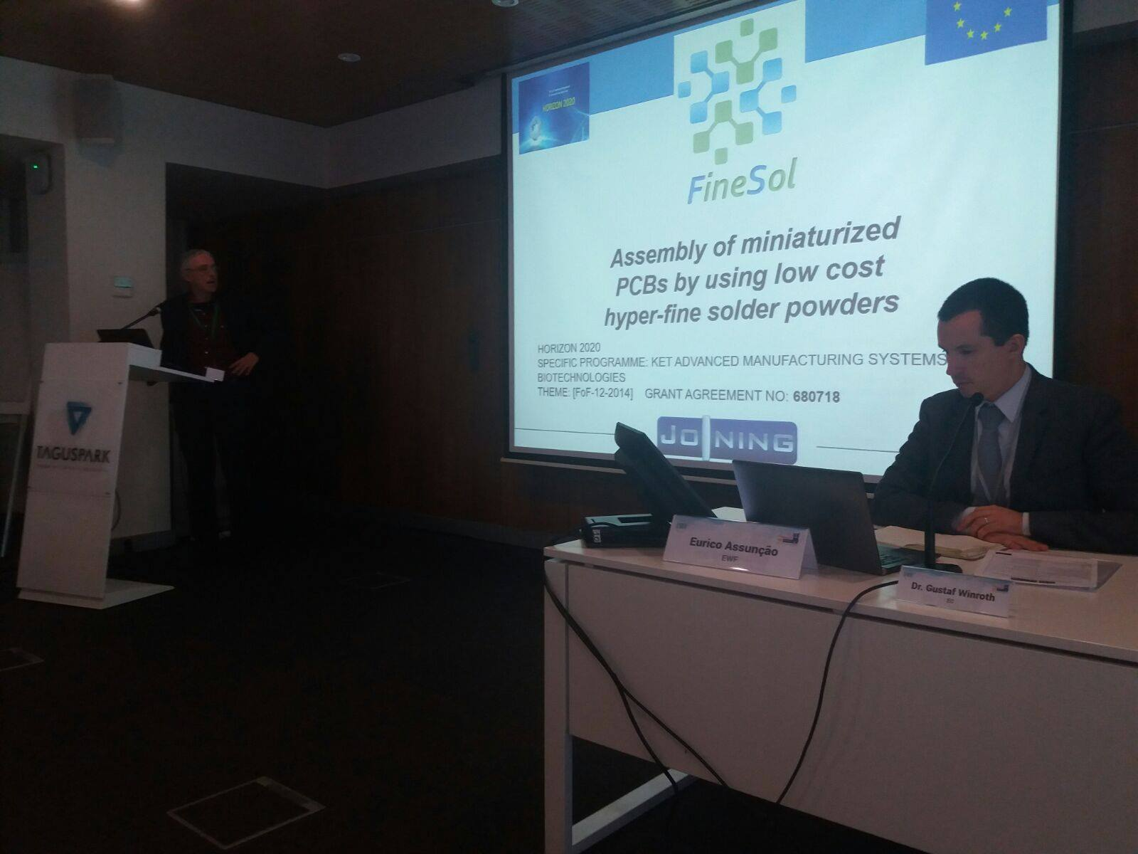 FineSol project presented to the Joining Sub-Platform stakeholders