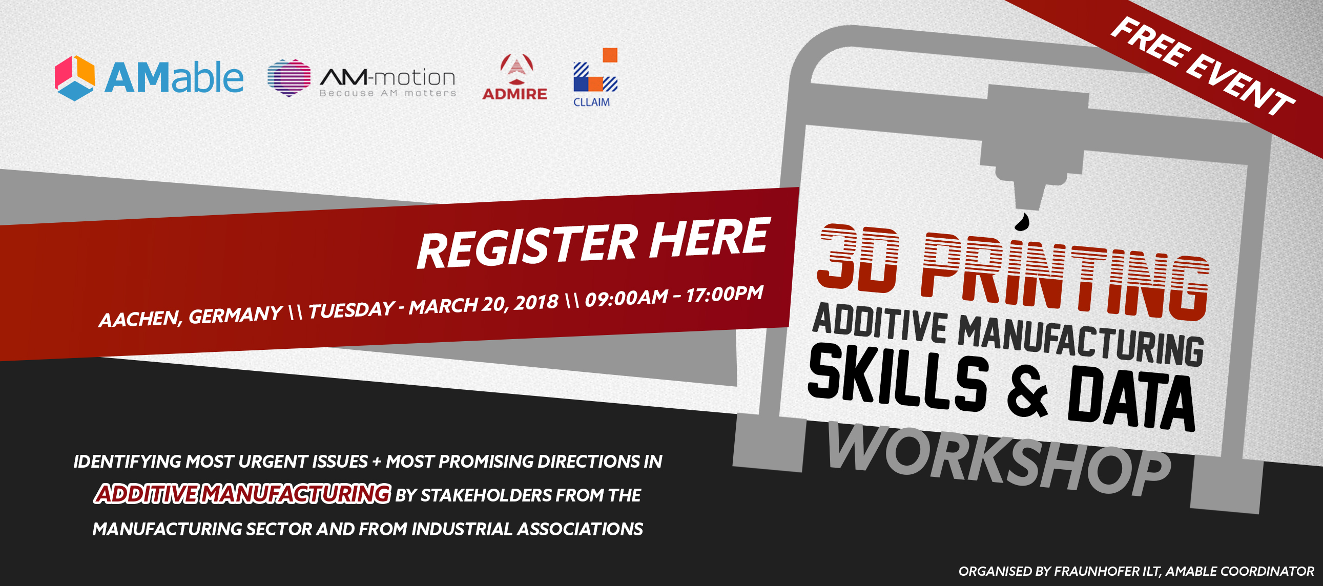 Additive Manufacturing free workshop